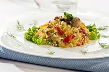 Ριζότο με γκότζι και σέλινο